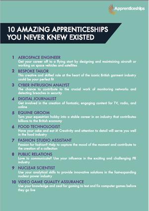 10 amazing apprencticeships 1