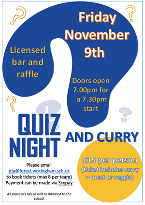 Pta september ad for quiz night