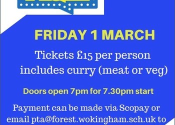 PTA Quiz Evening - 1st March 2019 from 7:00pm