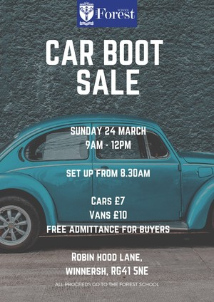 Car Boot Sale 24th march