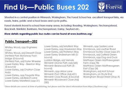 School buses information 202