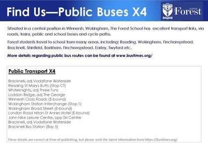 School buses information x4