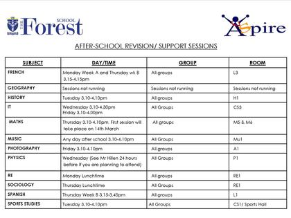 Examinations & Revision - The Forest School