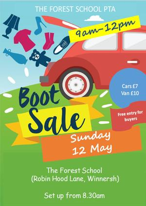 Forest pta may car boot 2019