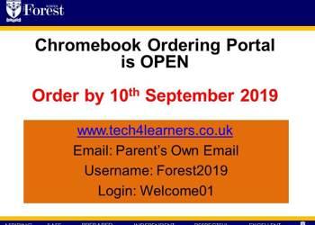 Chrombook - BYOD Deadline 10th September 2019