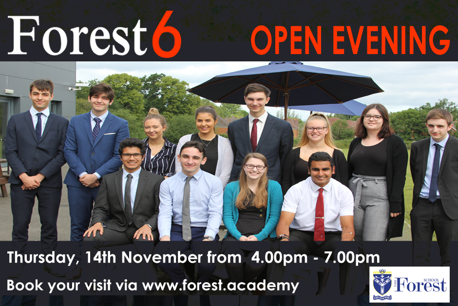 F6 Open Evening Ad 1 2019