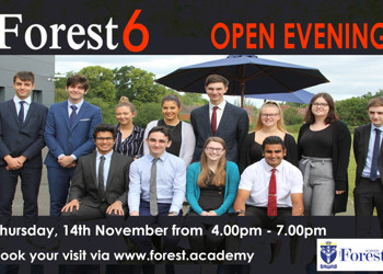 Sixth Form Open Evening - 14th November 2019. 4:00pm-7:00pm.