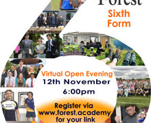 Big a4 orange 6 with photos and forest sixth form left 6.00pm