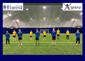 Sixth Form students train in the Air Dome