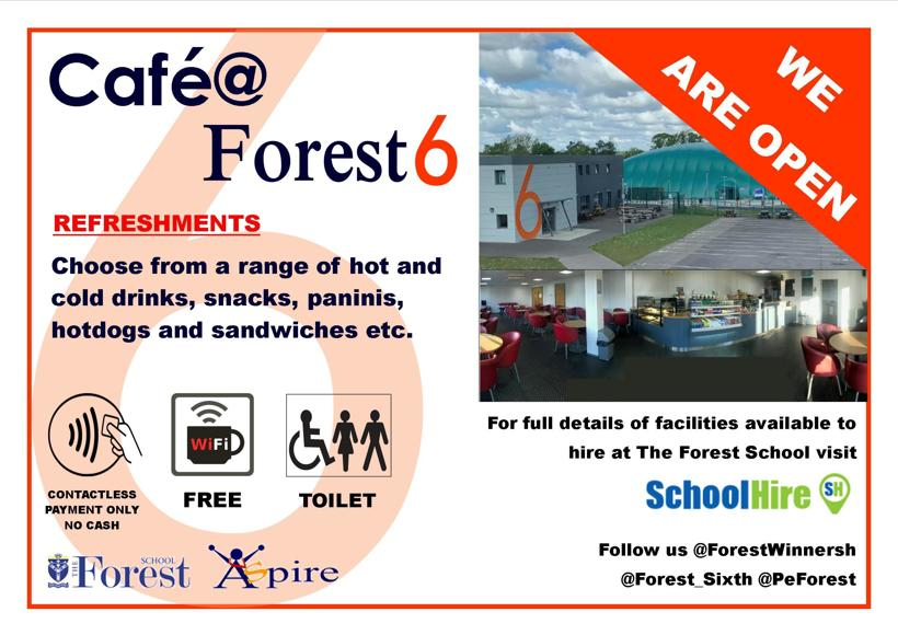 Sixth Form Cafe Advert for website A3  May 2021 v2
