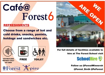 Cafe at Forest Sixth Form is Open